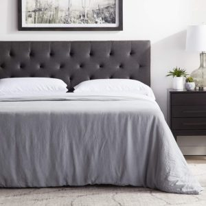 LUCID Mid-Rise Upholstered Headboard Bed