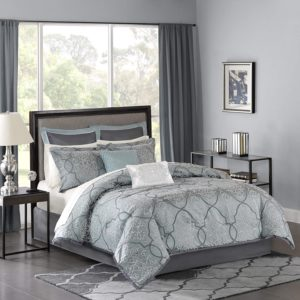 Madison Park LaVine Jacquard Comforter Set, 12 Piece