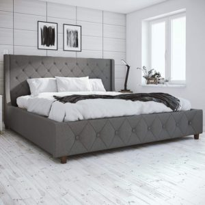 CosmoLiving Mercer Upholstered King Bed