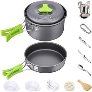 G4Free Non-stick Camping Cookware Mess Kit