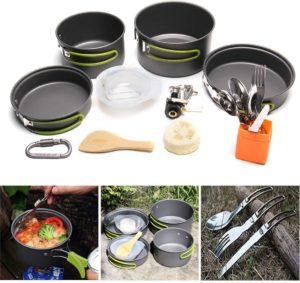 JACKBAGGIO New Outdoor Backpacking Camping Cookware