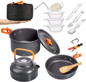 Overmont Camping Cookware Campfire Cooking Mess Kit