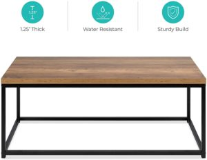 Best Choice Products 44'' Modern Wood Grain Top Coffee