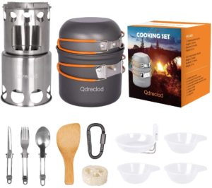 Qdreclod Camping Cookware Mess Utensil Set